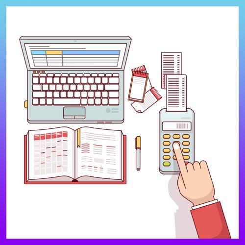 Pc, carnet et calculatrice.